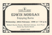 Enjoying Burns - Edwin Morgan event