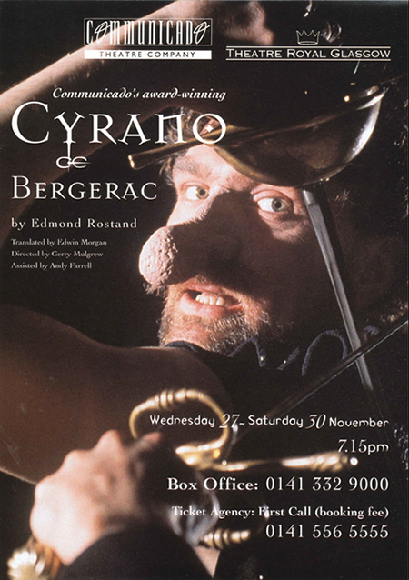 Poster for Cyrano De Bergerac, translated by Edwin Morgan