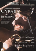 Poster for Edwin Morgan's translation of Cyrano De Bergerac
