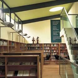 Interior of the Scottish Poetry Library